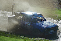 #27 Martin Hodgson / Tony Jones Ford Escort Mk2 S&HMC Tia Structures, Slicks Tyres, Cetus Solutions during Neil Howard Memorial Stage Rally, and opening round of the 2015 Motorsport News Rally Championship.  at Oulton Park, Little Budworth, Cheshire, United Kingdom. November 07 2015. World Copyright Peter Taylor. Copy of publication required for printed pictures.  Every used picture is fee-liable. http://archive.petertaylor-photographic.co.uk