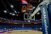 General view (GV) inside the arena before the NBA London Game match between Washington Wizards and New York Knicks at the O2 Arena, London, United Kingdom on 17 January 2019.