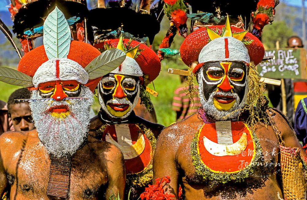Papua New Guinea, Western Highlands Province, Mt. Hagen Cultural Show, men. Mt. Hagen Cultural Show,Western Highlands Province, Papua New Guinea