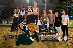 Second placed Skarlovnik/Pesic, Winners Jancar/Kotnik and Third placed Lovsin/Lovsin after Beach Volleyball Slovenian National Championship 2018, on July 21, 2018 in Kranj, Slovenia. Photo by Urban Urbanc / Sportida