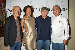 Left to right, MEIR TEPER, GRACE HIGHTOWER, ROBERT DE NIRO and NOBU MATSUHISAat a party to celebrate the 10th anniversary of Nobu Berkeley Street held on 5th November 2015.