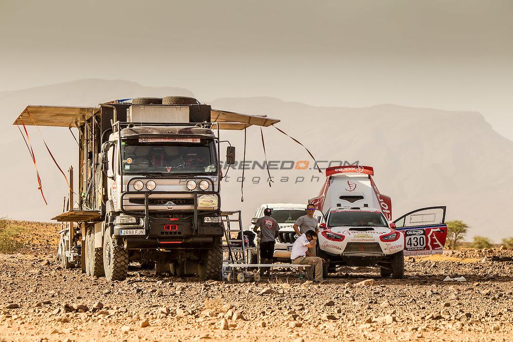 Acciona 100x100 ecopowered,electric car, Marocco rally 2015, day 3