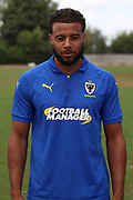 AFC Wimbledon midfielder Tom Soares (19) during the AFC Wimbledon 2018/19 official photocall at the Kings Sports Ground, New Malden, United Kingdom on 31 July 2018. Picture by Matthew Redman.
