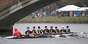 Cambridge, USA, Youth men' eights,   Canisius High School, approaching the  John Weeks footbridge during the  2009 Head of the Charles  Sunday  18/10/2009  [Mandatory Credit Peter Spurrier Intersport Images],.