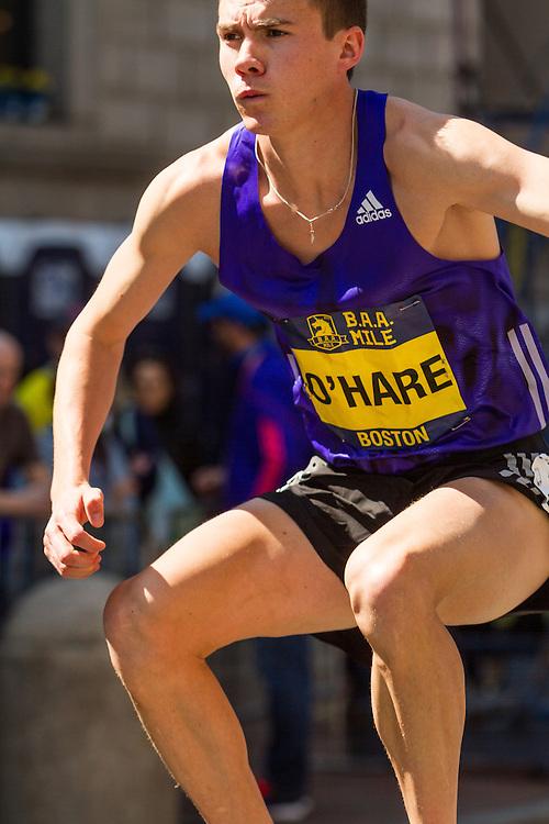 Boston Marathon: BAA 5K road race, Invitational Mens Mile, Chris O'Hare