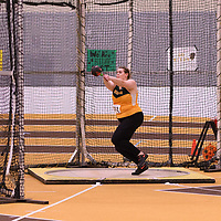 Brooke Shatkowski in action during the 2018 Canada West Track & Field Championship on February  24 at James Daly Fieldhouse. Credit: Arthur Ward/Arthur Images