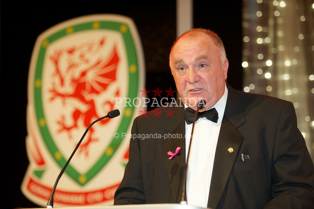 CARDIFF, WALES - Monday, October 8, 2012: FAW President Trevor Lloyd-Hughes during the FAW Player of the Year Awards Dinner at the National Museum Cardiff. (Pic by David Rawcliffe/Propaganda)