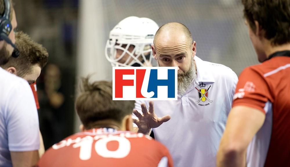 BERLIN - Indoor Hockey World Cup<br /> Quarterfinal 4: Australia - Belgium<br /> foto: de CHAFFOY Alexandre.<br /> WORLDSPORTPICS COPYRIGHT FRANK UIJLENBROEK