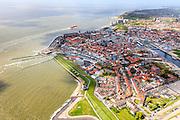 Nederland, Zeeland, Walcheren, 09-05-2013; zeeschepen op de rede van Vlissingen. Seagoing vessels on the Flushing Roadstead.<br /> luchtfoto (toeslag op standard tarieven)<br /> aerial photo (additional fee required)<br /> copyright foto/photo Siebe Swart