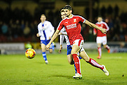 Swindon Town's Raphael Rossi Branco during the Sky Bet League 1 match between Swindon Town and Walsall at the County Ground, Swindon, England on 24 November 2015. Photo by Shane Healey.