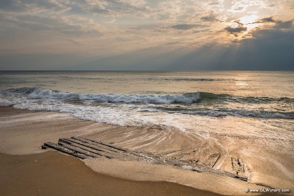 One of the many shipwrecks in the Graveyard of the Atlantic along the Outer Banks of NC.