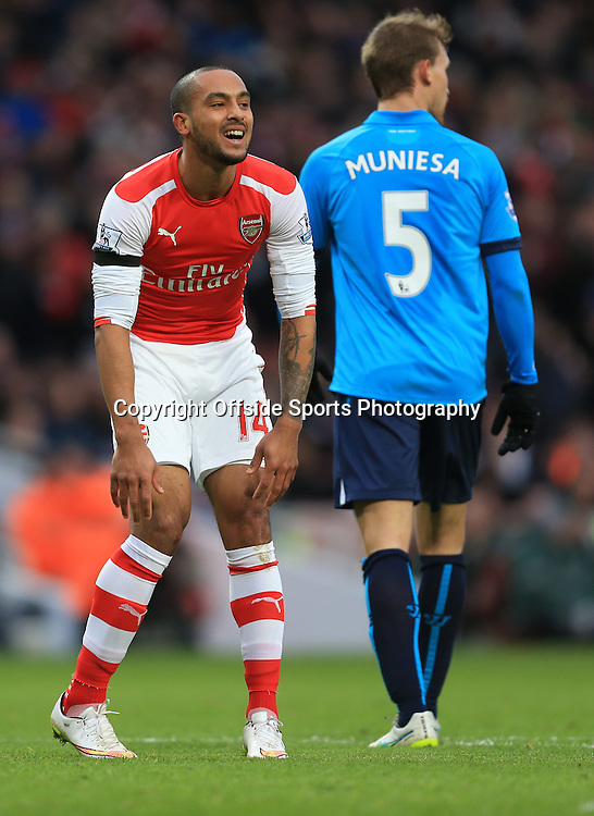 11 January 2015 - Barclays Premier League - Arsenal v Stoke City - Theo Walcott of Arsenal reacts after after missing the target - Photo: Marc Atkins / Offside.