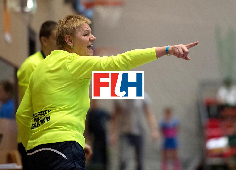 BERLIN - Indoor Hockey World Cup<br /> Women: Ukraine - Czech Republic<br /> foto: MAKAIEVA Svitlana.<br /> WORLDSPORTPICS COPYRIGHT FRANK UIJLENBROEK