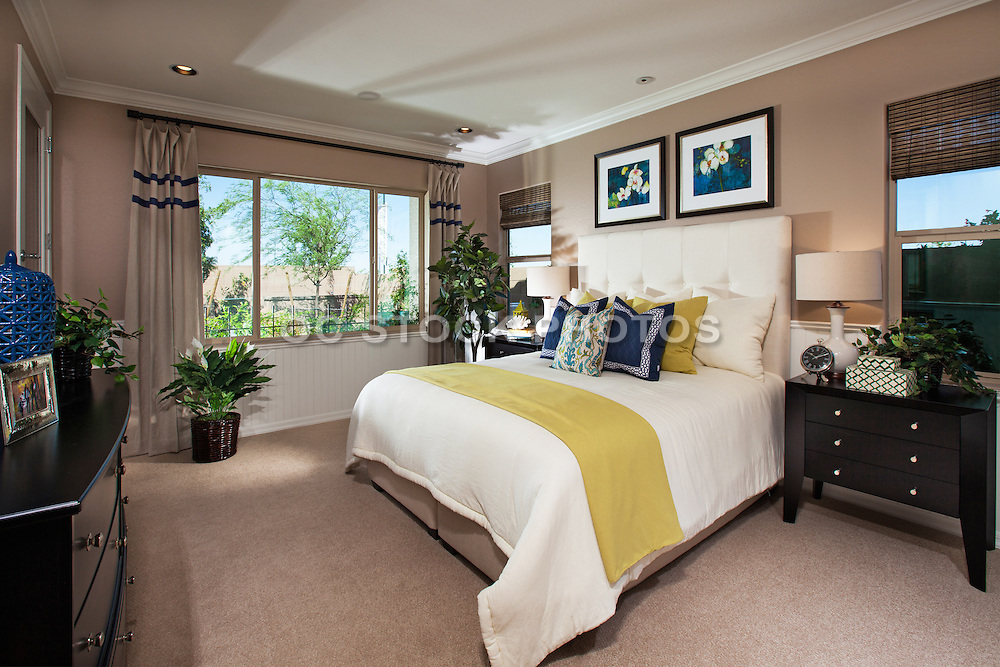 Master Bedroom Interior Design Stock Photo