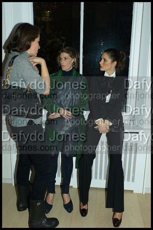 KATYA LUKI; EMILIE BRUNER; AMALEISA STEVENS, James Franco exhibition 'Fat Squirrel' at Siegfried Contemporary, Basset Rd, London W10. 23 November 2014.
