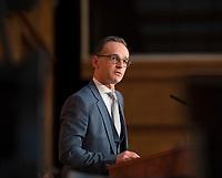 DEU, Deutschland, Germany, Berlin, 14.03.2018: Bundesaussenminister Heiko Maas (SPD) während seiner Rede bei der Amtsübergabe im Weltsaaal des Auswärtigen Amts.