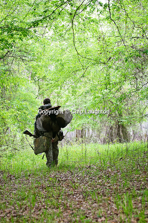Turkey Hunting stock photo image