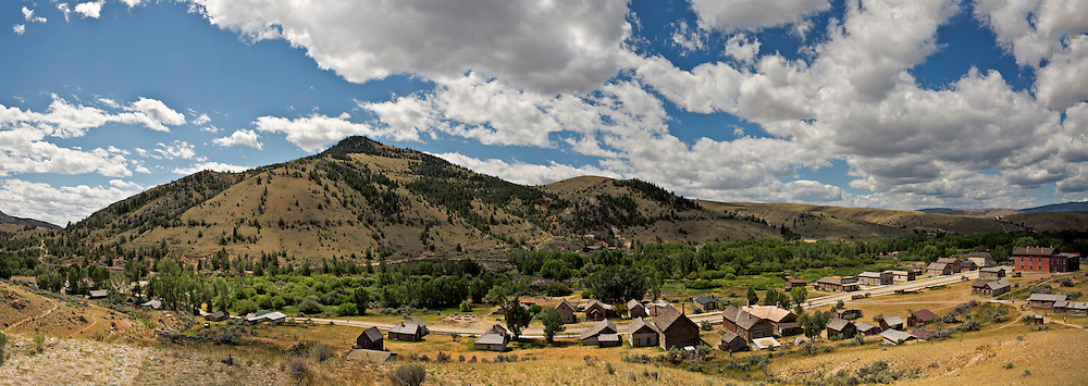 MT00072-00...MONTANA - A panoramic view of historic Bannack, once a booming mining town now a ghost town in Bannack State Park.