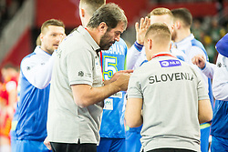 Veselin Vujovic, head coach of Slovenia before handball match between National teams of Slovenia and Macedonia on Day 2 in Preliminary Round of Men's EHF EURO 2018, on January 13, 2018 in Arena Zagreb, Zagreb, Croatia. Photo by Ziga Zupan / Sportida
