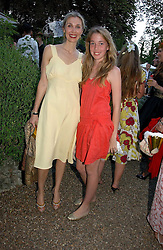 Left to right, ALLEGRA HICKS with her daughter ANGELICA HICKS at a party to celebrate Stephen Jones's 25 Years of Millinery held at Debenham House, 8 Addison Road, London W14 on 13th July 2006.<br /><br />NON EXCLUSIVE - WORLD RIGHTS