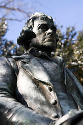 Statue of Thomas Jefferson, University of Virginia in Charlottesville, VA.