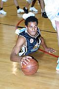 NBL Basketball 2002<br />Nelson Giants v Wellington Saints at Queens Wharf Event Centre in Wellington, 20/4/02<br /><br />Mika Vukona<br /><br />Pic: Sandra Teddy/Photosport<br />*digital image*