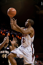 J.R. Reynolds shoots against Wake Forest - Reynolds had 40 points in the game, the most by any player in the ACC this season.  The Virginia Cavaliers defeated the Wake Forest Demon Decons 88-76 at the John Paul Jones Arena in Charlottesville, VA on January 21, 2007.