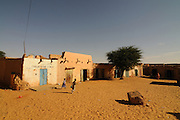 Town square of the town of Chinguetti, wolrd heritasge sight, Western Africa, Mauretania, Africa