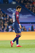 Neymar da Silva Santos Junior - Neymar Jr (PSG) missed to score during the UEFA Champions League, Group B, football match between Paris Saint-Germain and RSC Anderlecht on October 31, 2017 at Parc des Princes stadium in Paris, France - Photo Stephane Allaman / ProSportsImages / DPPI