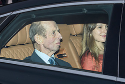 © Licensed to London News Pictures. 18/12/2019. London, UK. DUKE OF KENT. Members of the Royal Family seen leaving Buckingham Palace in West London after attending the Queen's annual Christmas lunch. Photo credit: Ben Cawthra/LNP