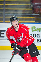 KELOWNA, CANADA - OCTOBER 20: Lane Gilliss #9 of the Portland Winterhawks skates during morning practice at the Kelowna Rockets on October 20, 2017 at Prospera Place in Kelowna, British Columbia, Canada.  (Photo by Marissa Baecker/Shoot the Breeze)  *** Local Caption ***