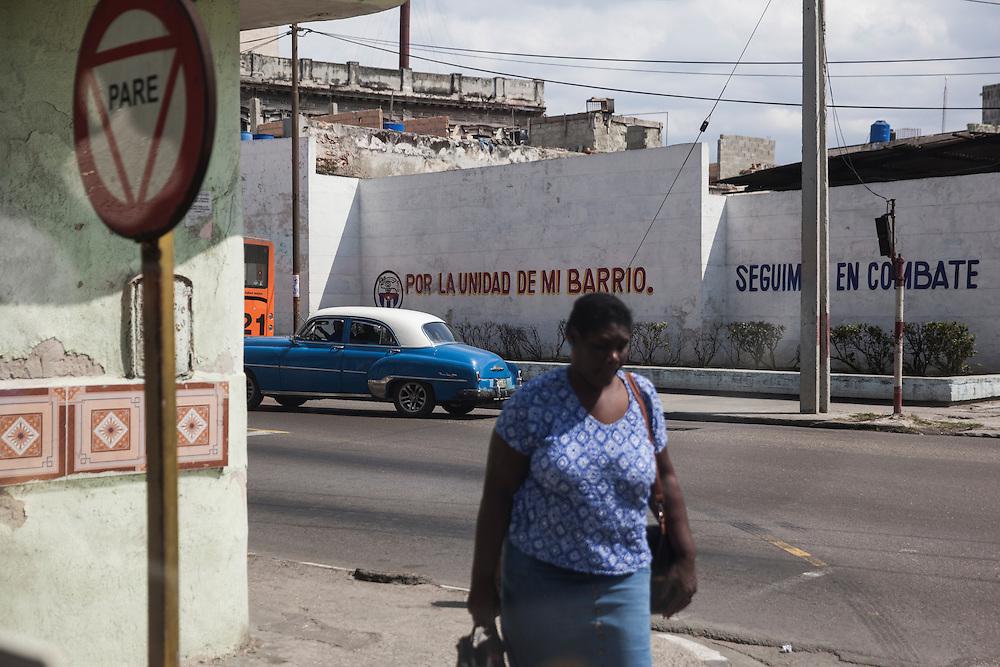 Street scene in Vedado, Havana, Cuba.