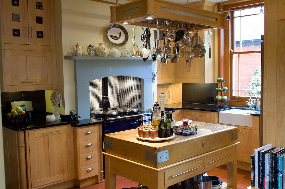 Farmhouse Kitchen with blue Aga cooker