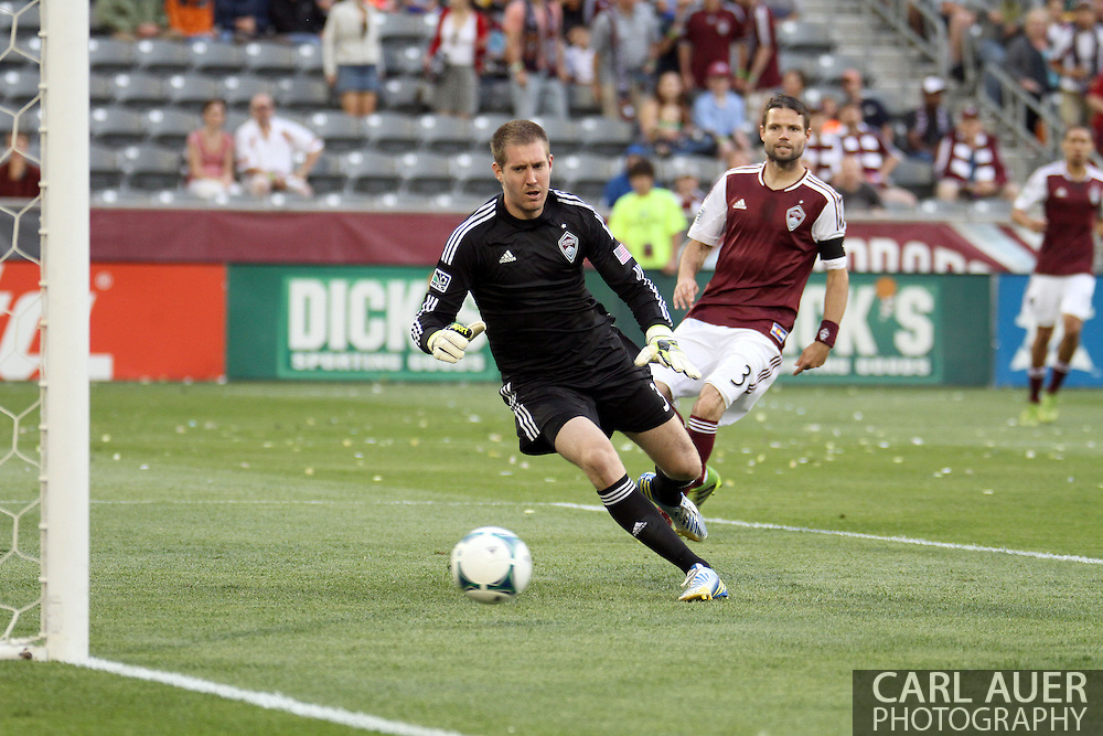 August 3rd, 2013 - Colorado Rapids goalkeeper Clint Irwin (31) watches the ball go past him for a Real Salt Lake goal early in the first half of action in the Major League Soccer match between Real Salt Lake and the Colorado Rapids at Dick's Sporting Goods Park in Commerce City, CO