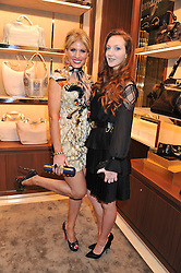Left to right, HOFIT GOLAN and OLIVIA GRANT at the Salvatore Ferragamo Old Bond Street Boutique Store Launch on 5th December 2012.
