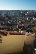 Portugal. Lisbon. view on historical center from the mirador of Graca / le quartier de Graca . Lisbonne