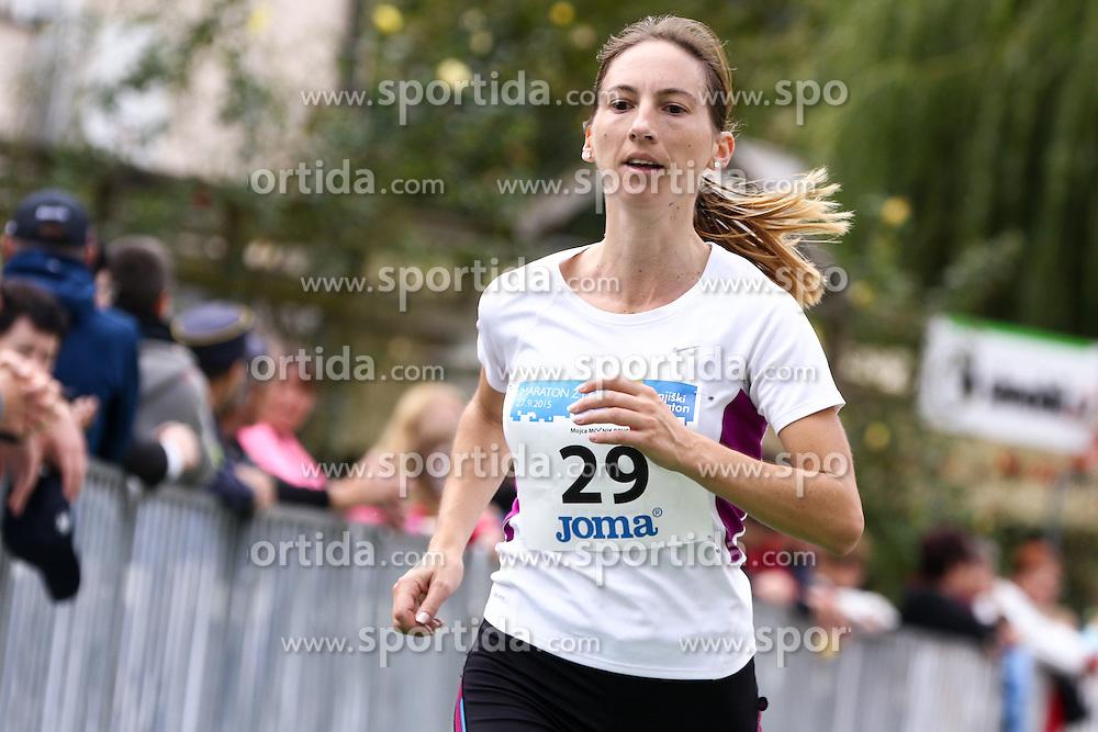 Mojca Mocnik competes during 3. Konjiski maraton / 3rd Marathon of Slovenske Konjice, on September 27, 2015 in Slovenske Konjice, Slovenia. Photo by Urban Urbanc / Sportida