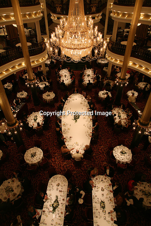 Royal Caribbean International's  Independence of the Seas, the world's largest cruise ship...Onboard feature pictures...Dining room