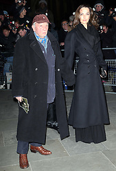 David Bailey  arriving at the Portrait Gala 2014: Collecting to Inspire charity event at the National Portrait Gallery in  London, Tuesday, 11th February 2014. Picture by Stephen Lock / i-Images