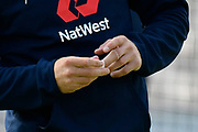 The bandaged finger of Jonny Bairstow of England before the first day of the 4th SpecSavers International Test Match 2018 match between England and India at the Ageas Bowl, Southampton, United Kingdom on 30 August 2018.
