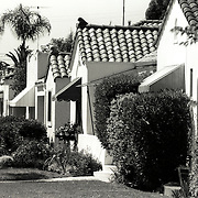 Row of Craftsman bungalow houses in North Park neighborhood, San Diego, CA