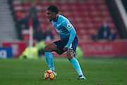Swansea City  midfielder Leroy Fer (8)  during the Premier League match between Stoke City and Swansea City at the Britannia Stadium, Stoke-on-Trent, England on 31 October 2016. Photo by Simon Davies.