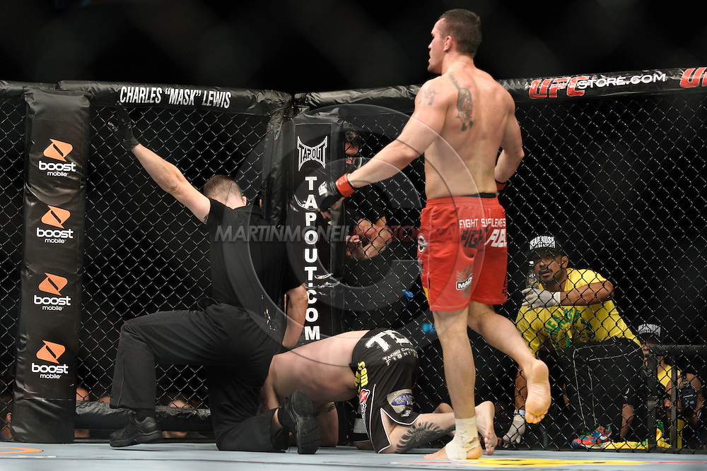 OBERHAUSEN, GERMANY, NOVEMBER 13, 2010: Kyle Noke and Rob Kimmons during UFC 122 inside the Konig Pilsner Arena in Oberhausen, Germany.