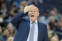 MEMPHIS, TN - OCTOBER 30:  Head Coach Steve Clifford of the Charlotte Hornets yells to the officials during a game against the Memphis Grizzlies at the FedEx Forum on October 30, 2017 in Memphis, Tennessee.  NOTE TO USER: User expressly acknowledges and agrees that, by downloading and or using this photograph, User is consenting to the terms and conditions of the Getty Images License Agreement.  The Hornets defeated the Grizzlies 104-99.  (Photo by Wesley Hitt/Getty Images) *** Local Caption *** Steve Clifford