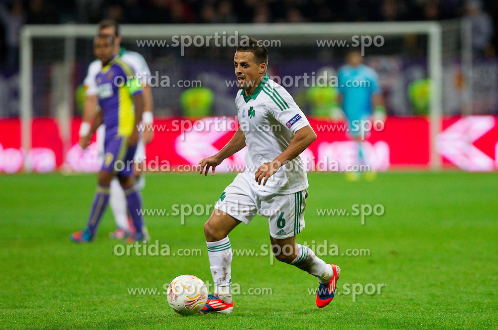 Vitolo of Panathinaikos during football match between NK Maribor and Panathinaikos Athens F.C. (GRE) in 1st Round of Group Stage of UEFA Europa league 2013, on September 20, 2012 in Stadium Ljudski vrt, Maribor, Slovenia. Maribor defeated Panathinaikos 3-0. (Photo By Vid Ponikvar / Sportida)