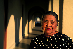 Portrait of Elderly Hispanic Woman Smiling