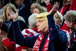 Donald Trump (Norway fan) during handball match between National teams of Norway and Norway on Day 3 in Preliminary Round of Men's EHF EURO 2018, on January 14, 2018 in Arena Zatika, Porec, Croatia. Photo by Ziga Zupan / Sportida