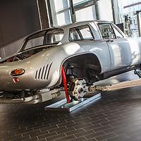 Porsche 356 B Carrera GT (1963). Dreikantschabe at the Porsche Museum, Stuttgart, Germany, 2010