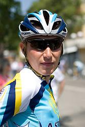 Jani Brajkovic (SLO) of  Team Astana at start point of the 198 km long 3rd stage from Grado, Italy to Valdobbiadene, Italy at 92nd Giro d'Italia, on May 11, 2009, in Grado, Italy.  (Photo by Vid Ponikvar / Sportida)