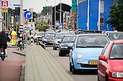 Nederland, Nijmegen, 28-6-2012Verkeer op weg naar een evenement in Nijmegen. Verkeer uit het noorden gaat via de Waalbrug dwars door de stad.De bouw van een nieuwe stadsbrug moet het stadscentrum ontlasten.Foto: Flip Franssen/Hollandse Hoogte